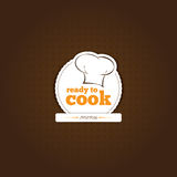 Cook Background. Restaurant background brown stripes on the floor Stock Images