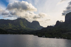 Cook Bay off the island of Moorea Royalty Free Stock Photo