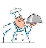 Cook big illustration cartoon Stock Photography