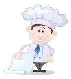 Cook with blank for your text Stock Image