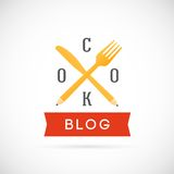 Cook Blog Vector Concept Icon or Logo Template Royalty Free Stock Photography