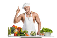 Cook bodybuilder Royalty Free Stock Images