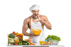 Cook bodybuilder Royalty Free Stock Photography