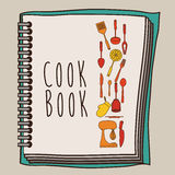 Cook book design Stock Images