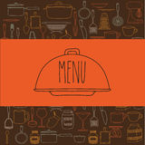 Cook book design Royalty Free Stock Images