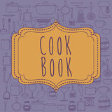 Cook book design Royalty Free Stock Photo