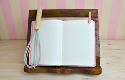 Cook Book and Egg Whisk Royalty Free Stock Photography