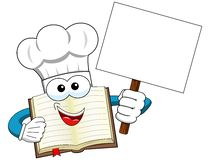 Cook book mascot blank banner vector illustration