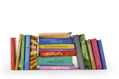 Cook books. A series of fictional recipe books on a white background Stock Images