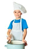 Cook boy Stock Photography