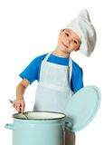 Cook boy Stock Photo