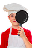 Cook boy on white Royalty Free Stock Photography