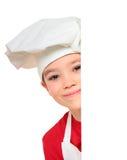 Cook boy on white Stock Photos