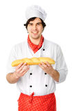 Cook with bread Stock Image