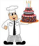 Cook and cake Royalty Free Stock Image
