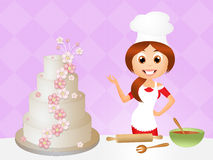 Cook cake vector illustration