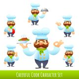 Cook Cartoon Characters Royalty Free Stock Photography