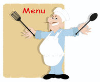 Cook cartoon style Stock Photos