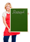 Cook with chalkboard Stock Photo