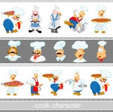 Cook character set Stock Photography