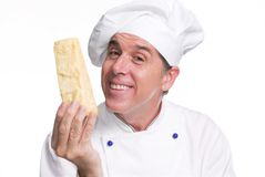 Cook cheese. Stock Images