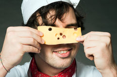 Cook with cheese Stock Images