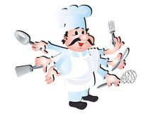 Cook chef Stock Photo