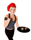 Cook chef or fitness trainer Stock Images