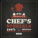 Cook chef vintage poster Royalty Free Stock Images