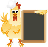 Cook chicken with slate board Royalty Free Stock Photos