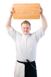 Cook and chopping board Royalty Free Stock Photo