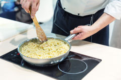 Cook cooking food Stock Image