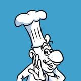Cook cooking secret cartoon Stock Images