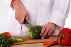 Cook cuts Stock Image