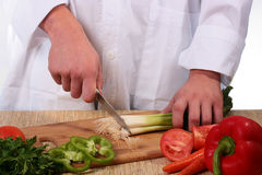 Cook cuts Stock Images