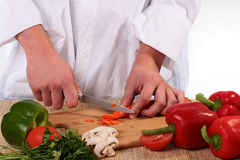 Cook cuts Royalty Free Stock Photos