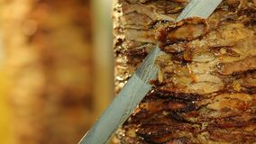 Meat Doner kebab stock footage