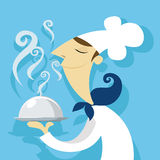 Cook with a delicious dish Royalty Free Stock Photos