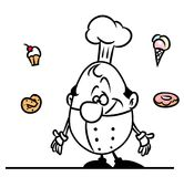 Cook dessert cartoon illustration Stock Image