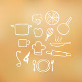 Cook elements Royalty Free Stock Images