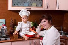 Cook family Royalty Free Stock Photo