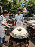 Cook in farmhouse enjoyment in chengdu,china Royalty Free Stock Photos