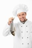 Cook the fish Stock Image