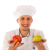 Cook with fresh apples Stock Image