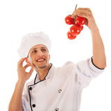 Cook with fresh tomatoes Stock Image