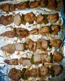 Freshly shish kebab with greens Stock Image