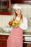 Cook with fruits Stock Photo