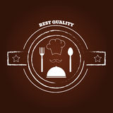 Cook hat silhouette logo, cookery eps 10 Stock Photo