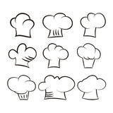 cook hats set  on white background Royalty Free Stock Images