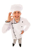 Cook in high angle Stock Photography